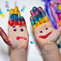 Play Therapy Kids Hands with Paint