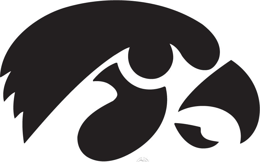 Iowa Hawkeyes Black Tigerhawk logo