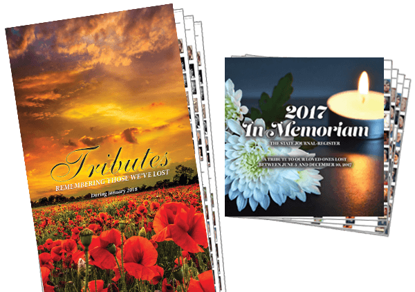 AdPortal Tributes in broadsheet or tab layouts