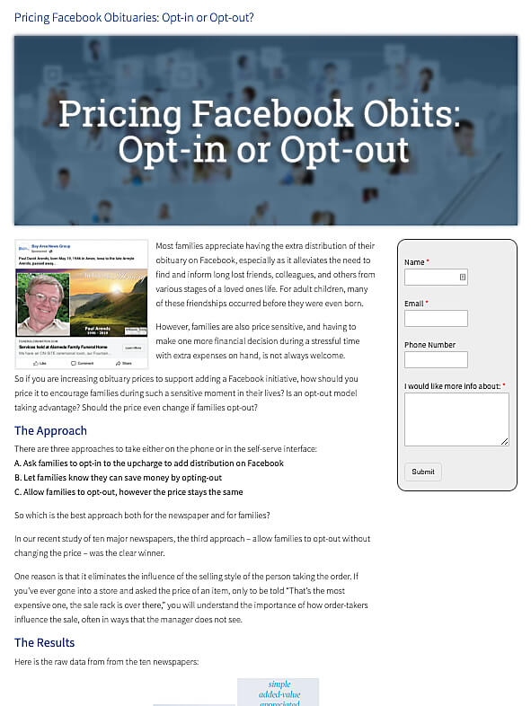 Facebook Pricing: Opt-in or Opt-out?