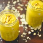 Pumpkin spice kefir smoothie