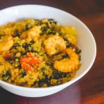 Cajunshrimp kale quinoa bowl
