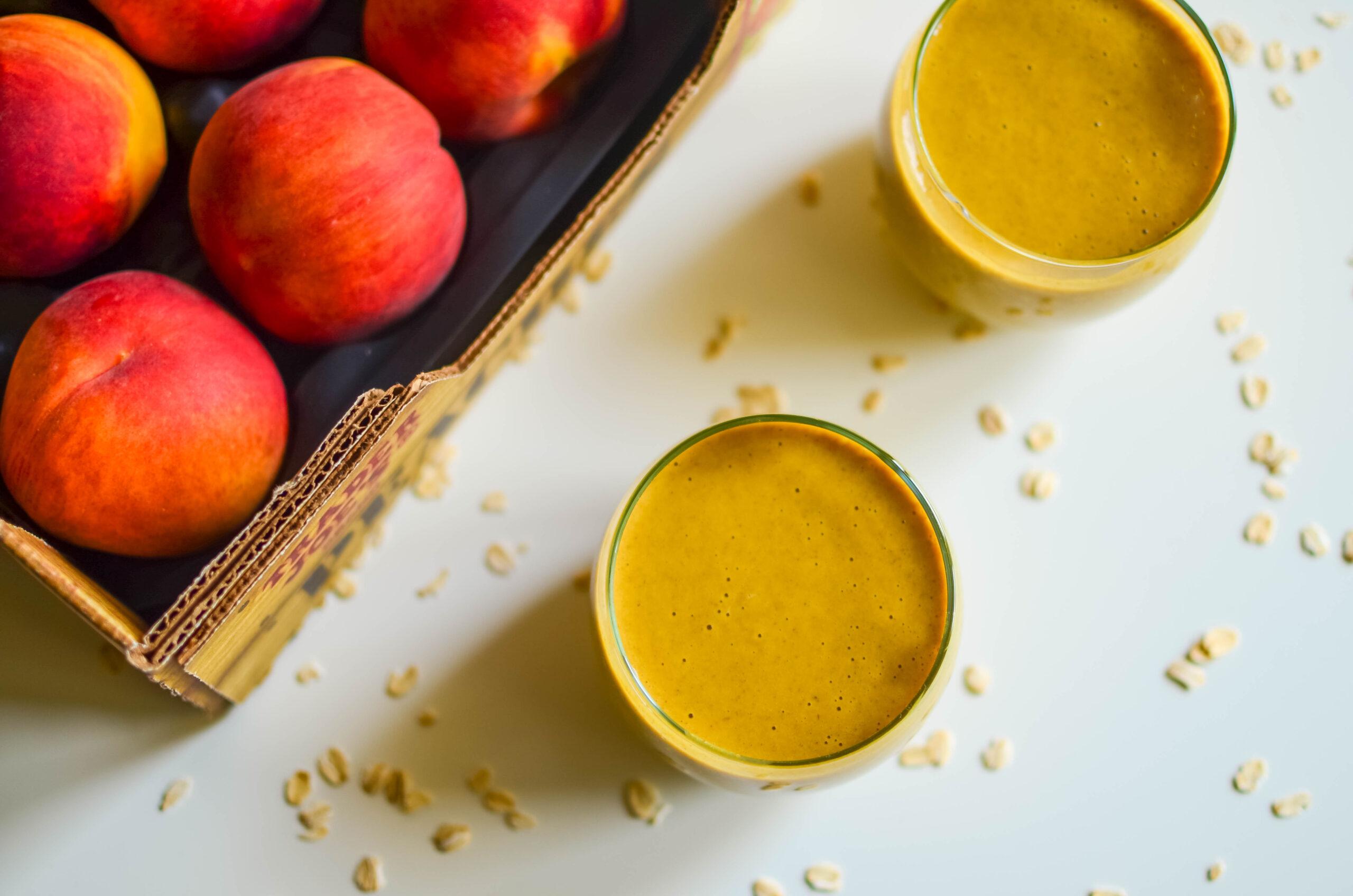 peach turmeric smoothie