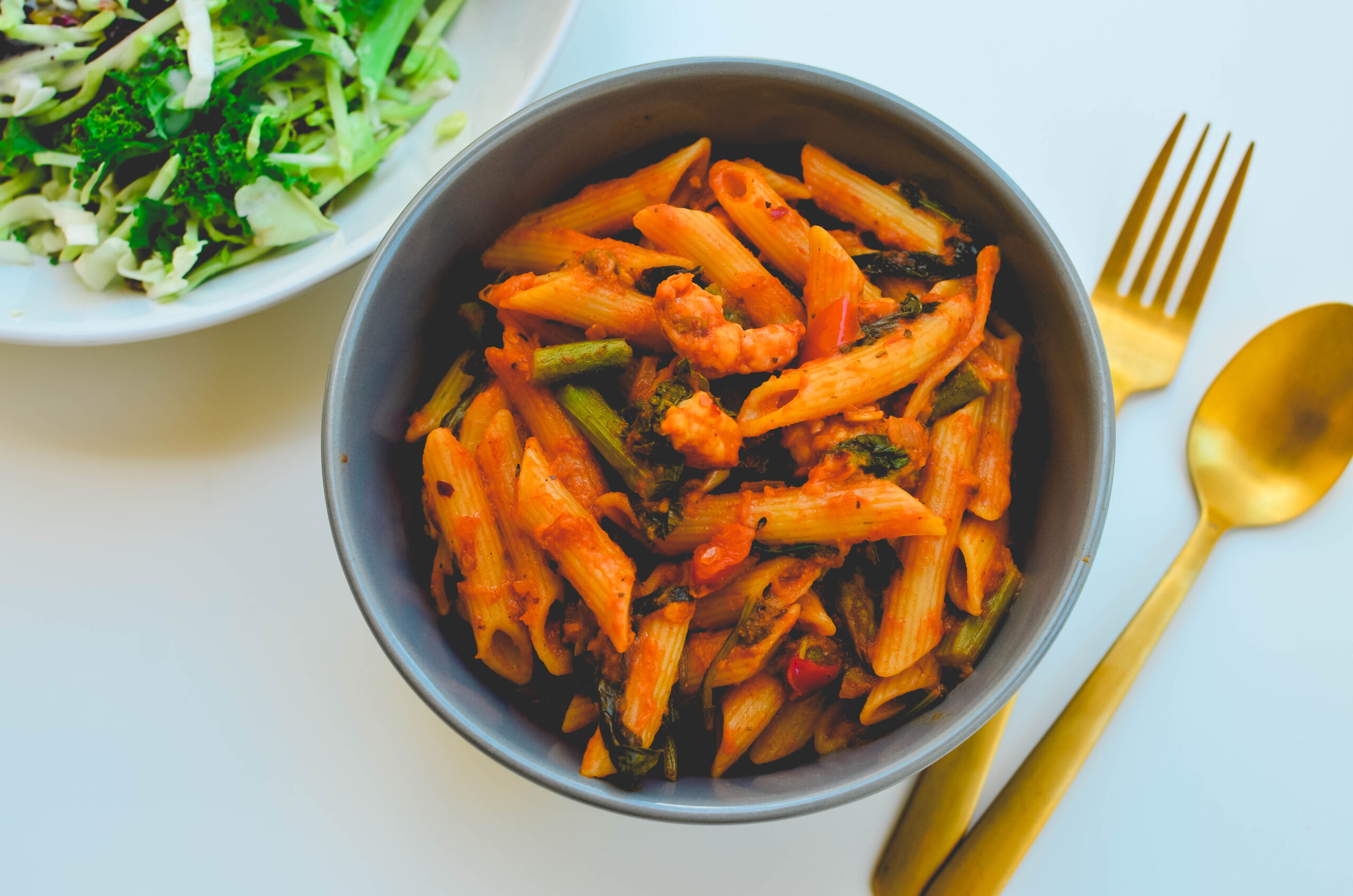 Shrimp Asparagus Penne