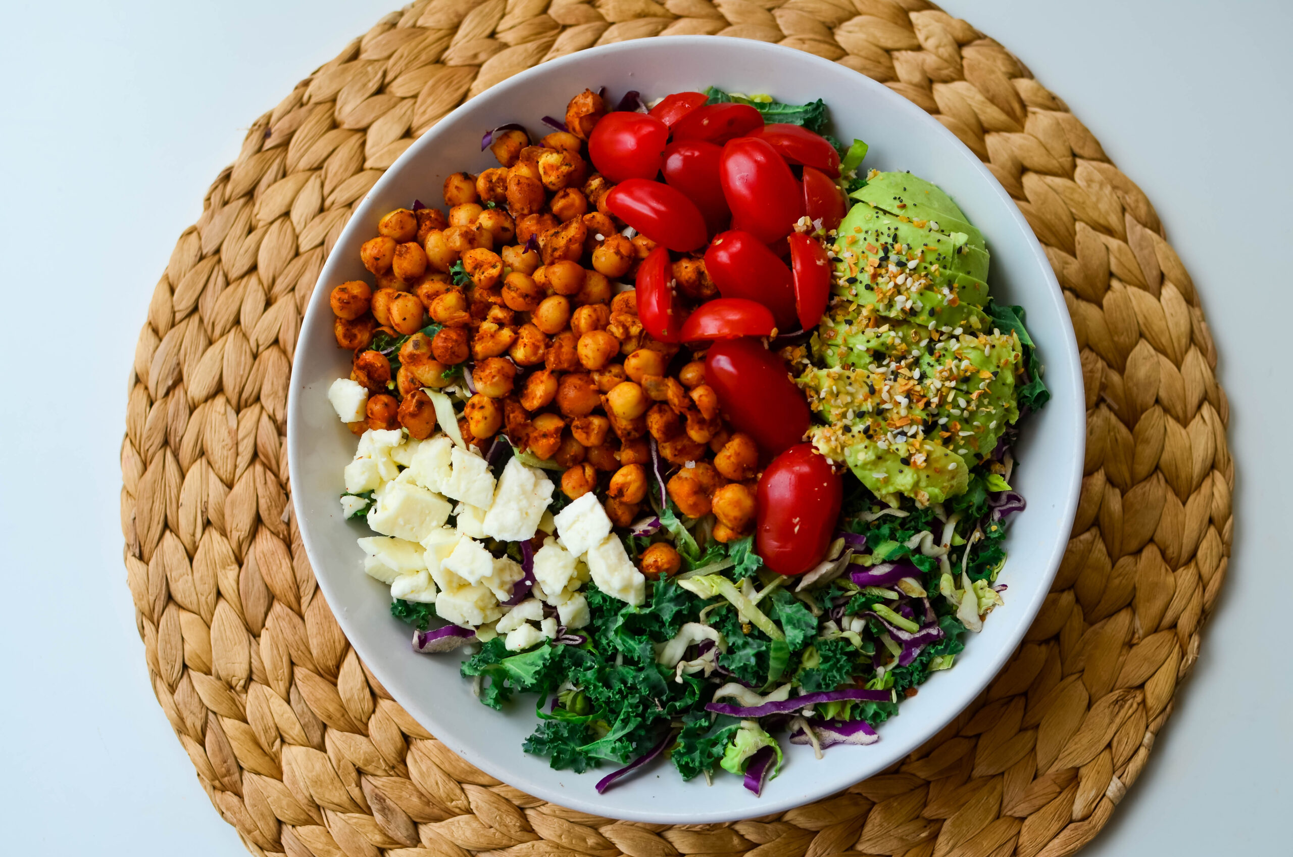 A vegetarian twist on a Cobb salad classic
