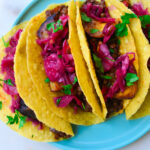 Vegan_Chipotle LEntil Plantain taco on a plate