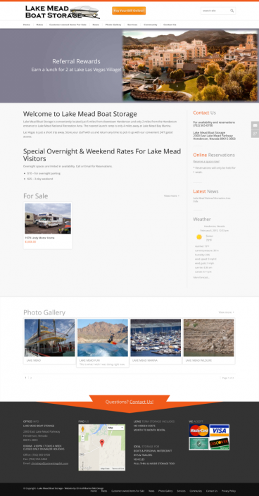Lake Mead Boat Storage Screenshot