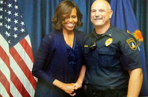 Photo after serving on the protection detail for First Lady Michelle Obama