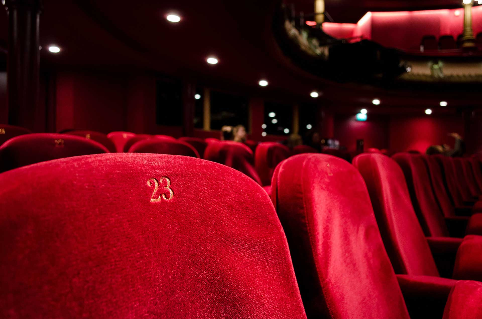 red movie theater seats