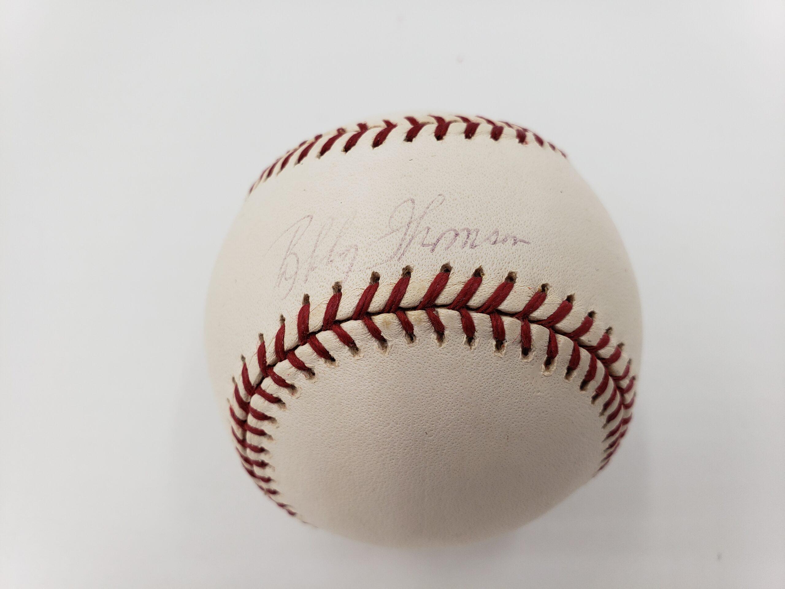 Bobby Thomson Autographed Baseball