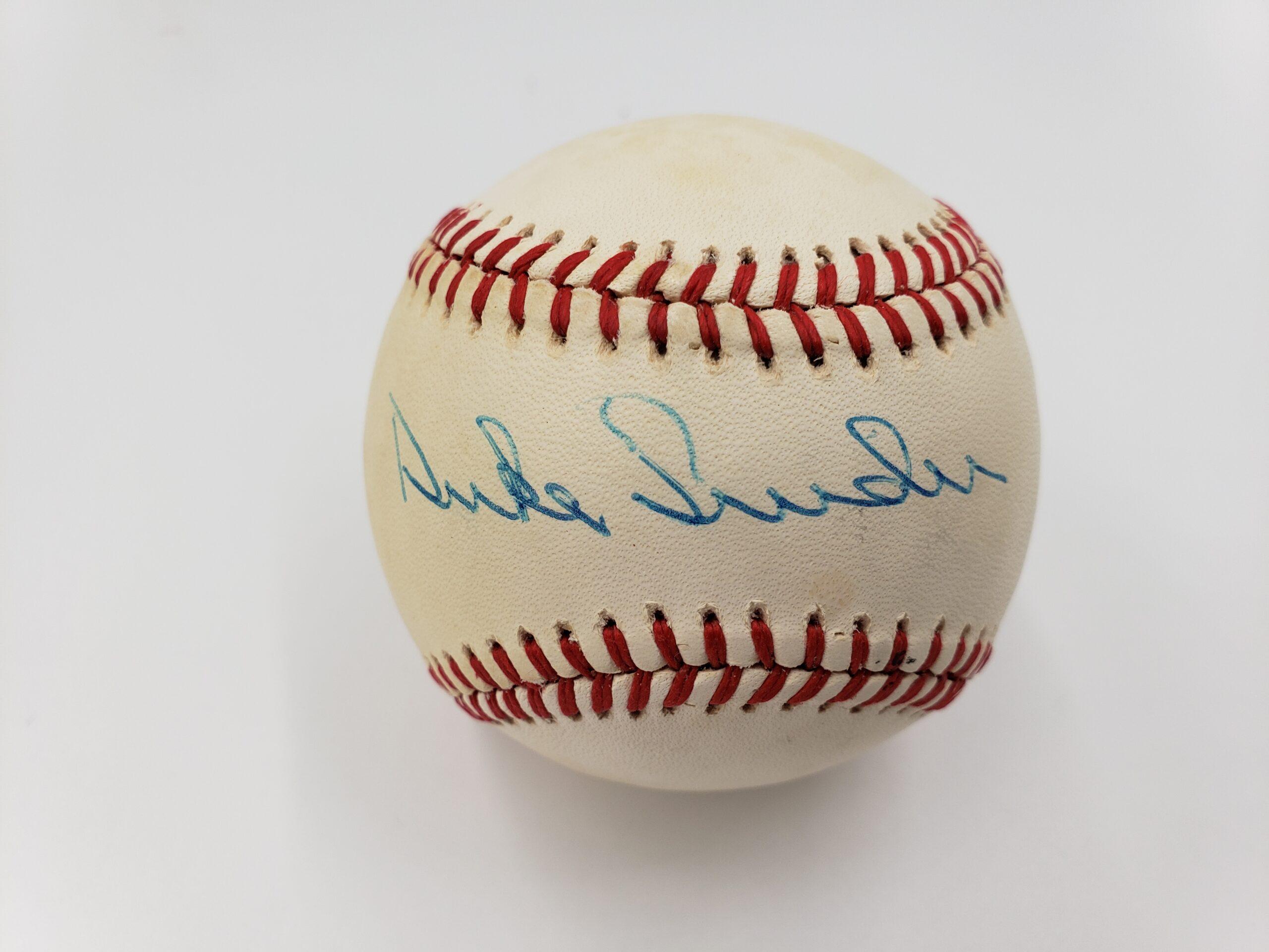 Duke Snyder Autographed Baseball