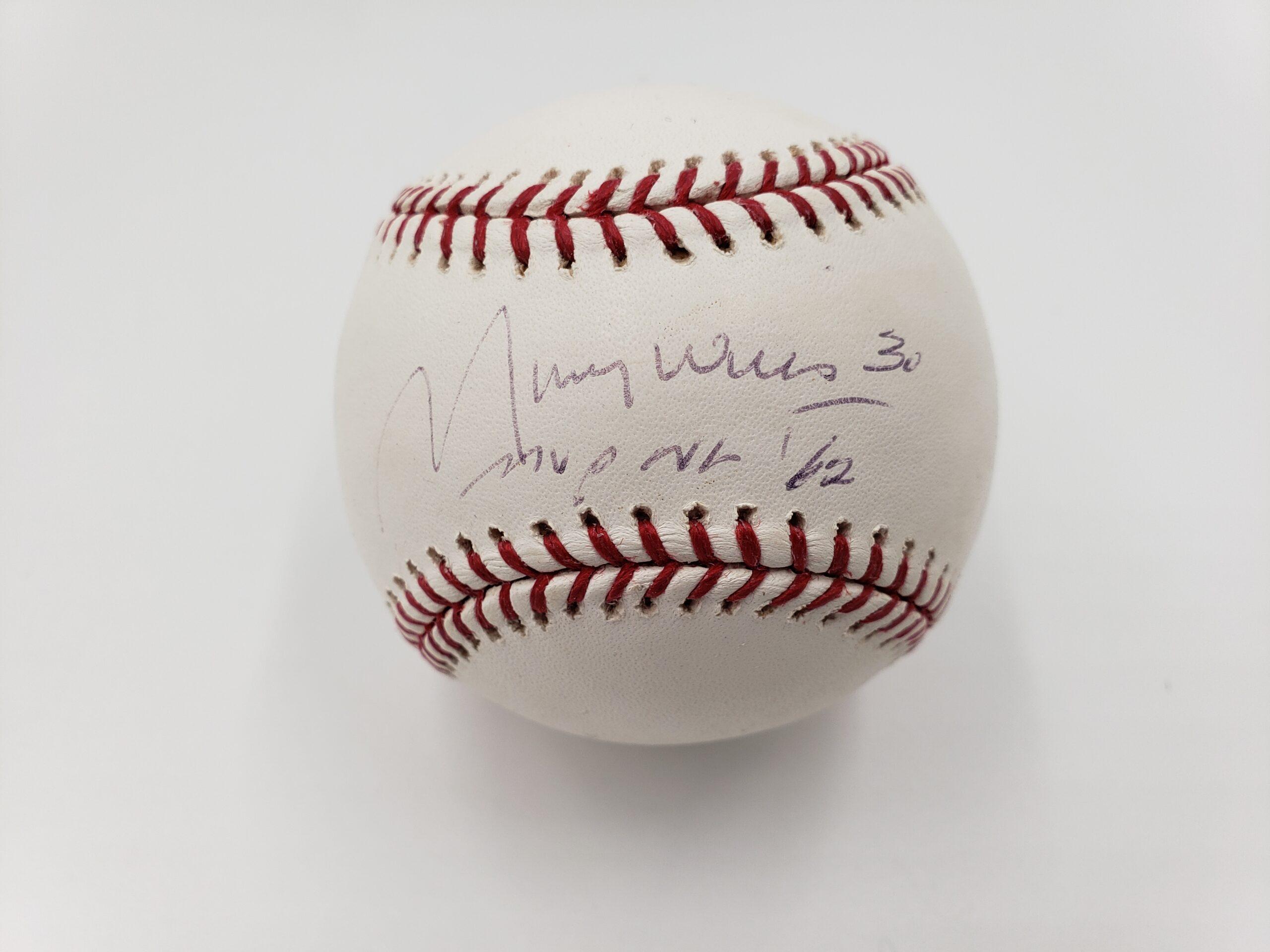 Maury Wills Autographed Baseball