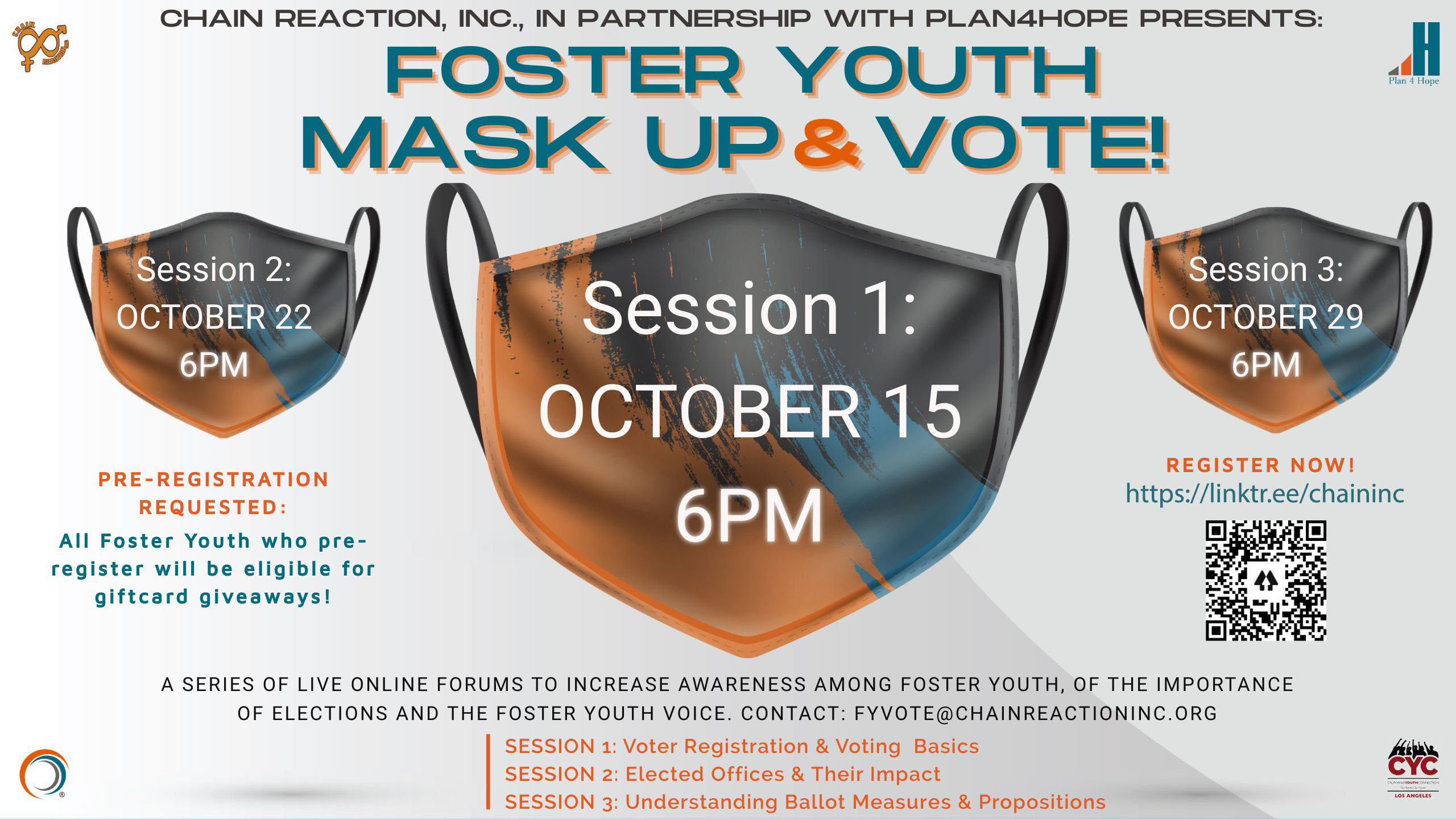 flyer Foster Care Mask Up and Vote