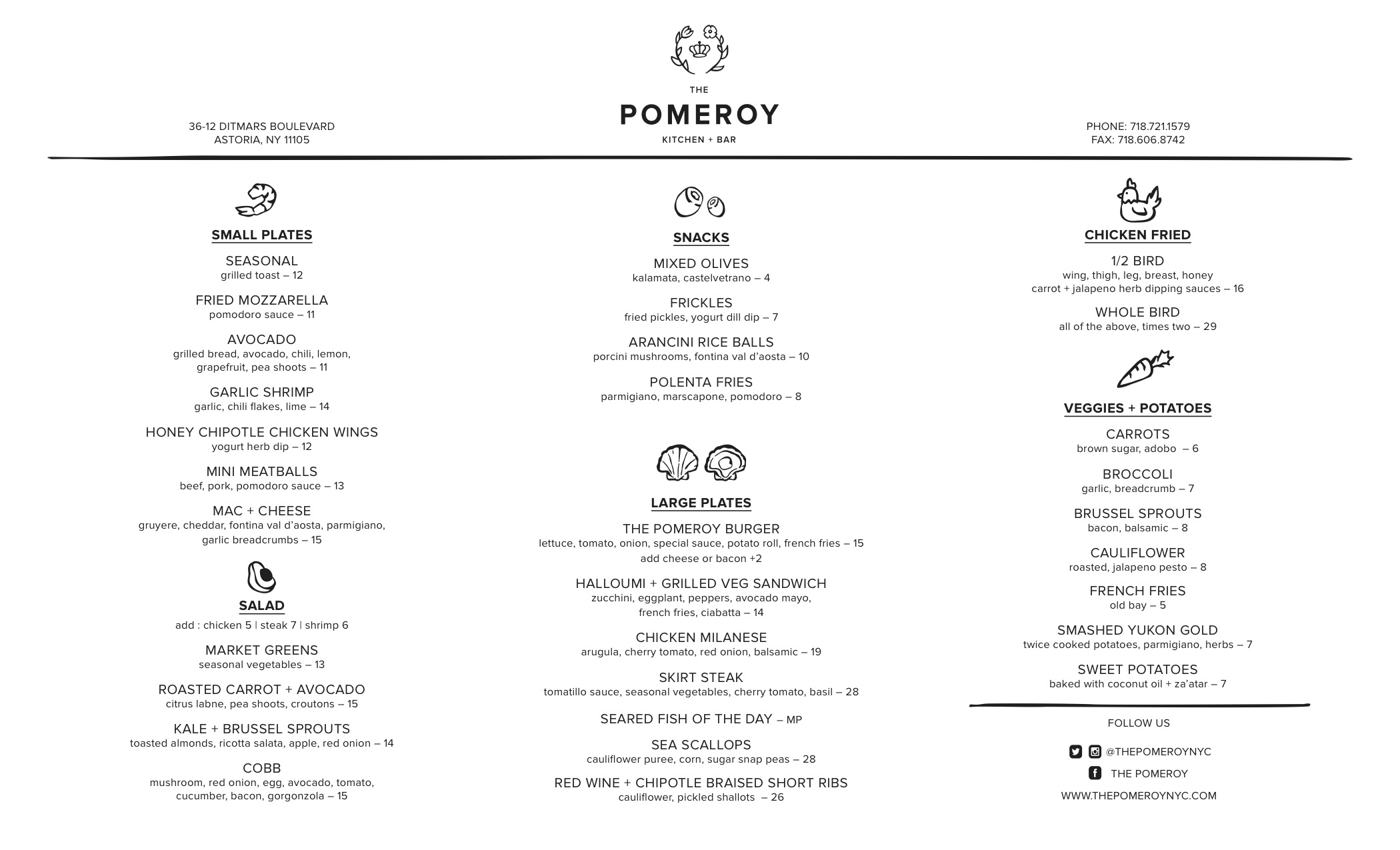 The-Pomeroy-Menu