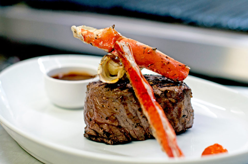 Filet with King Crab