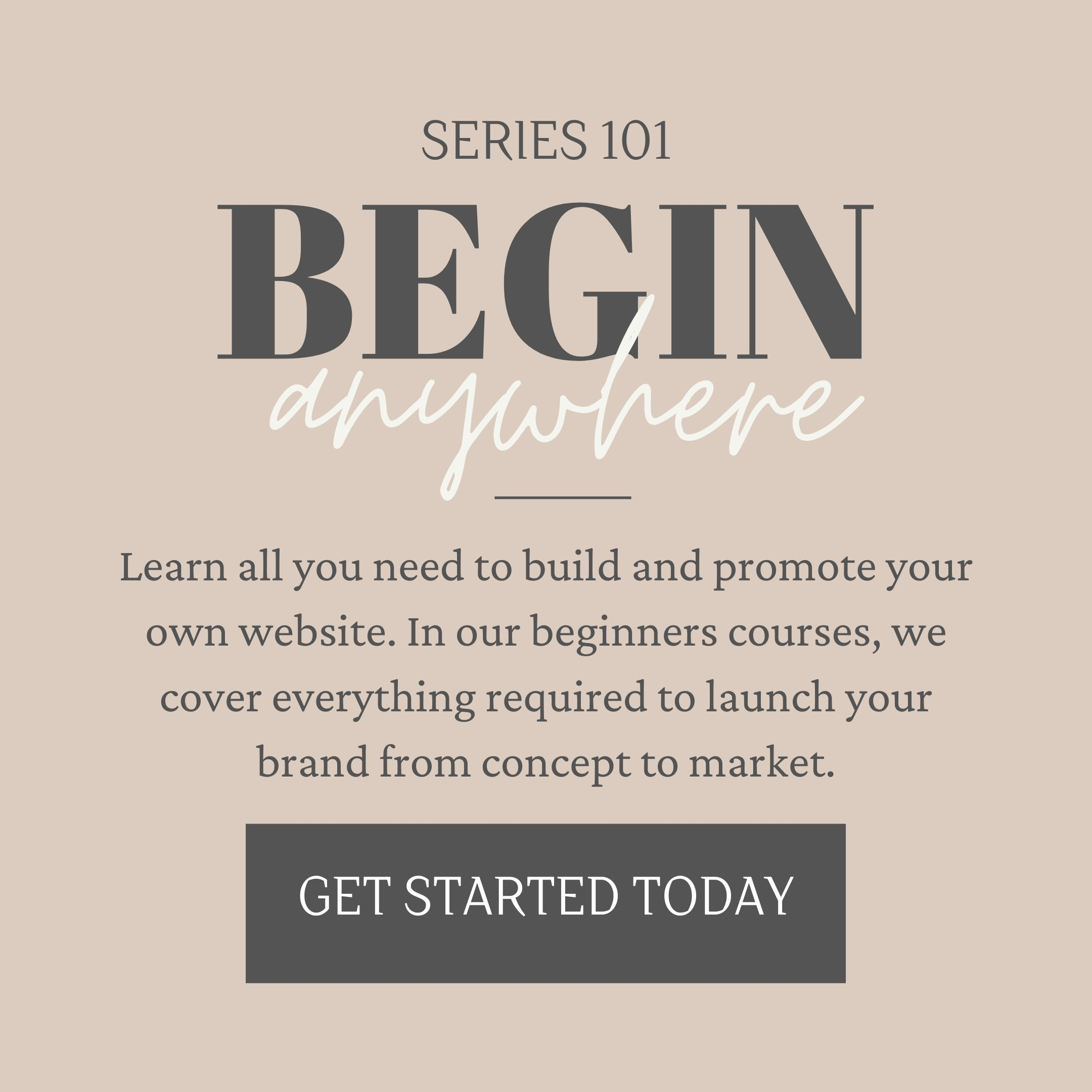 Beginner Online Courses Ad Banner