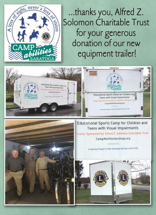 Alfred Z Solomon Trailer Donation Recognition