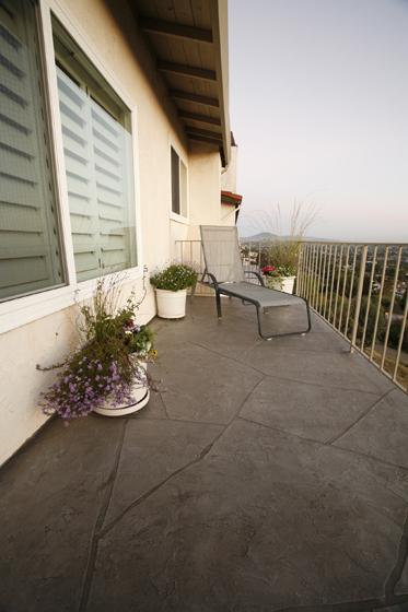terrazas concreto estampado