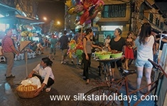 Night Market in Hanoi in Vietnam by SilkStarHolidays.com