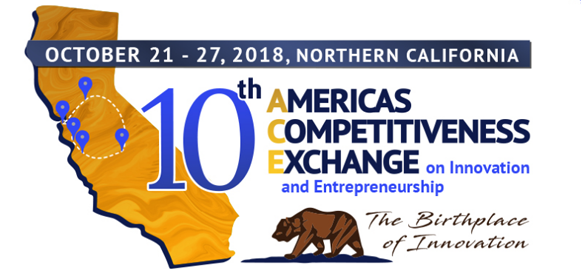 The upcoming Americas Competitive Exchange (ACE) 10 Tour is an exciting opportunity to showcase the best of the innovation and entrepreneurship economy in the Monterey Bay region. There are limited sponsorship opportunities to help defray the hosting expenses.