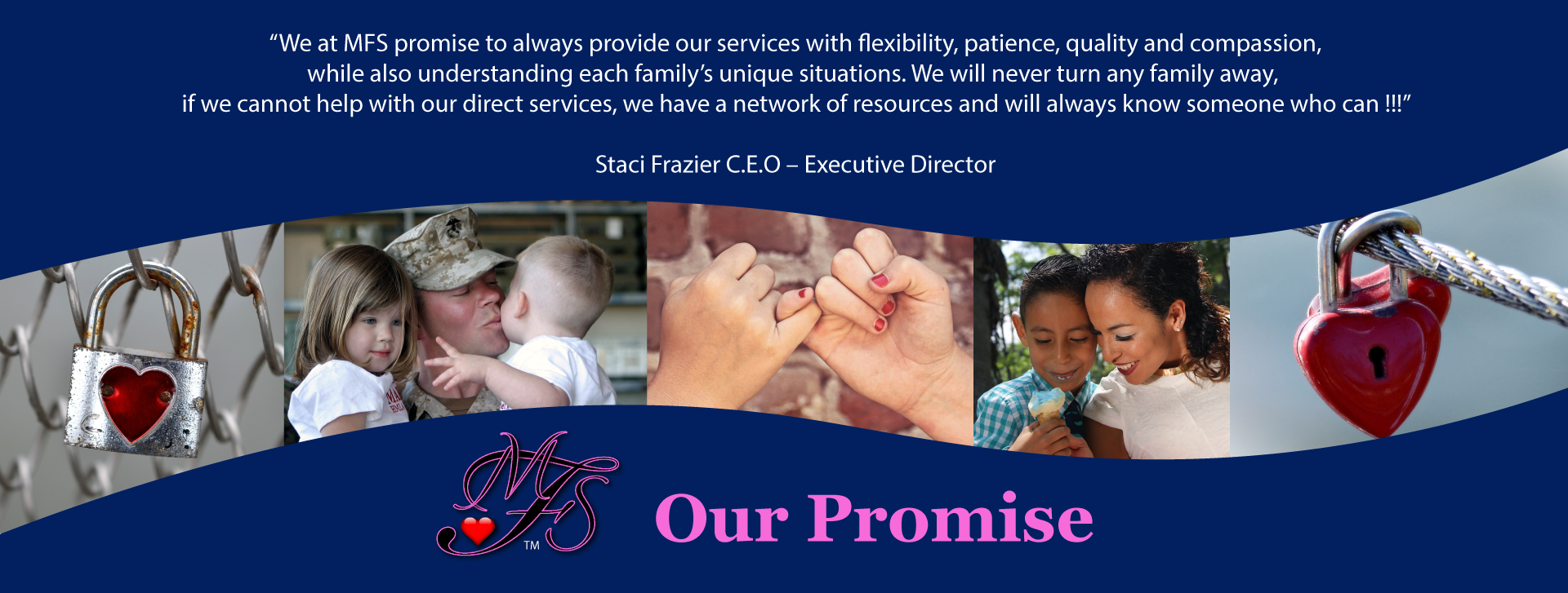 our promise header