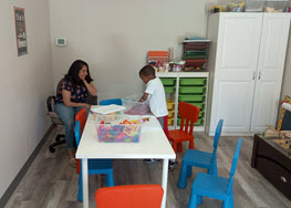 Child Playing at Milestone Family Solutions