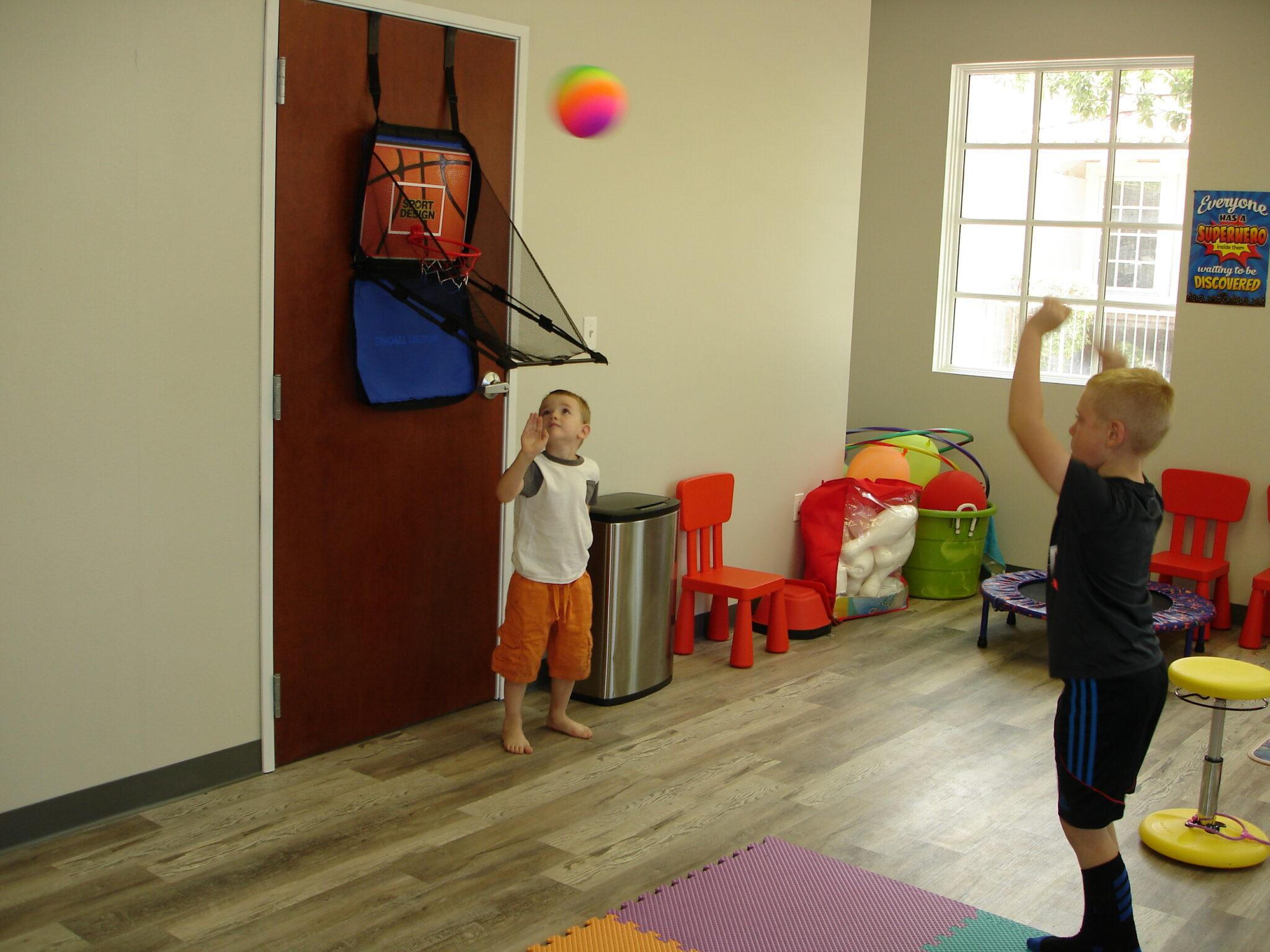 Children playing in Fun Zone