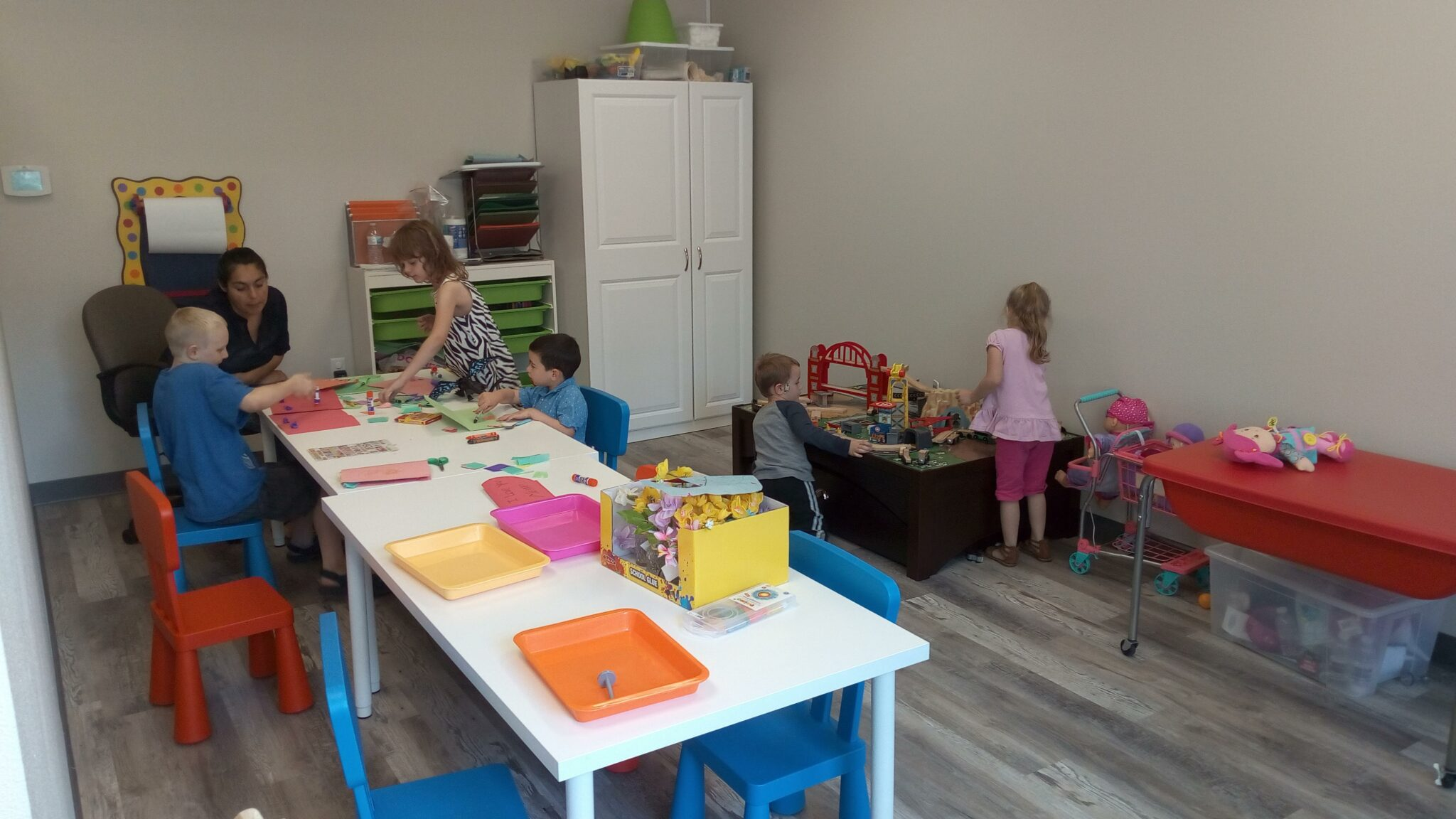 Children playing in the Imagination Station