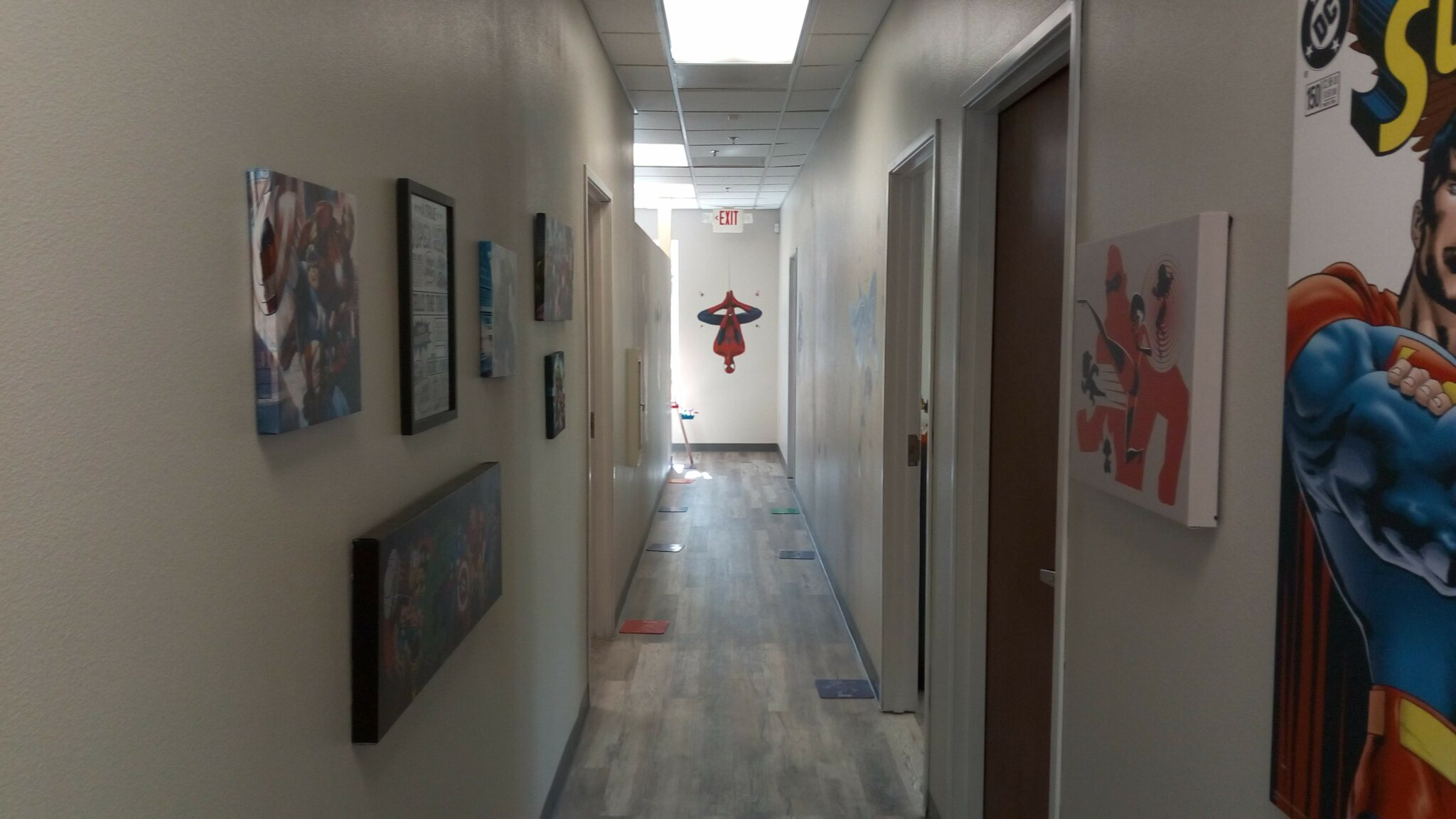 Superhero Hallway