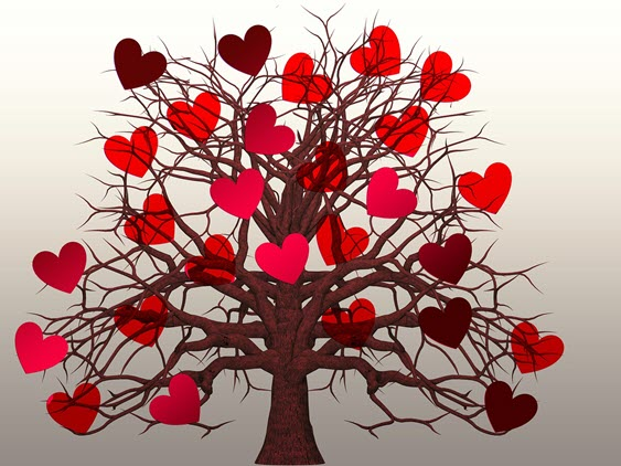 Tree filled wtih hearts