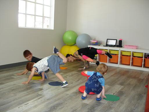Child dance demo in the Fun Zone