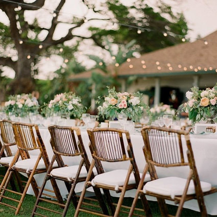 Bamboo Folding Chair (Outside Wedding) - AC Party Rentals
