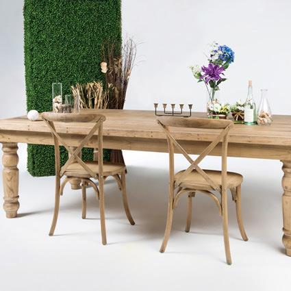 Farm Table Setup - AC Party Rentals