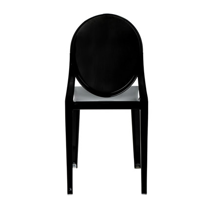 Ghost Chair Black (Back View) - AC Party Rentals