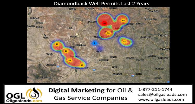Diamondback well permits last 2 years