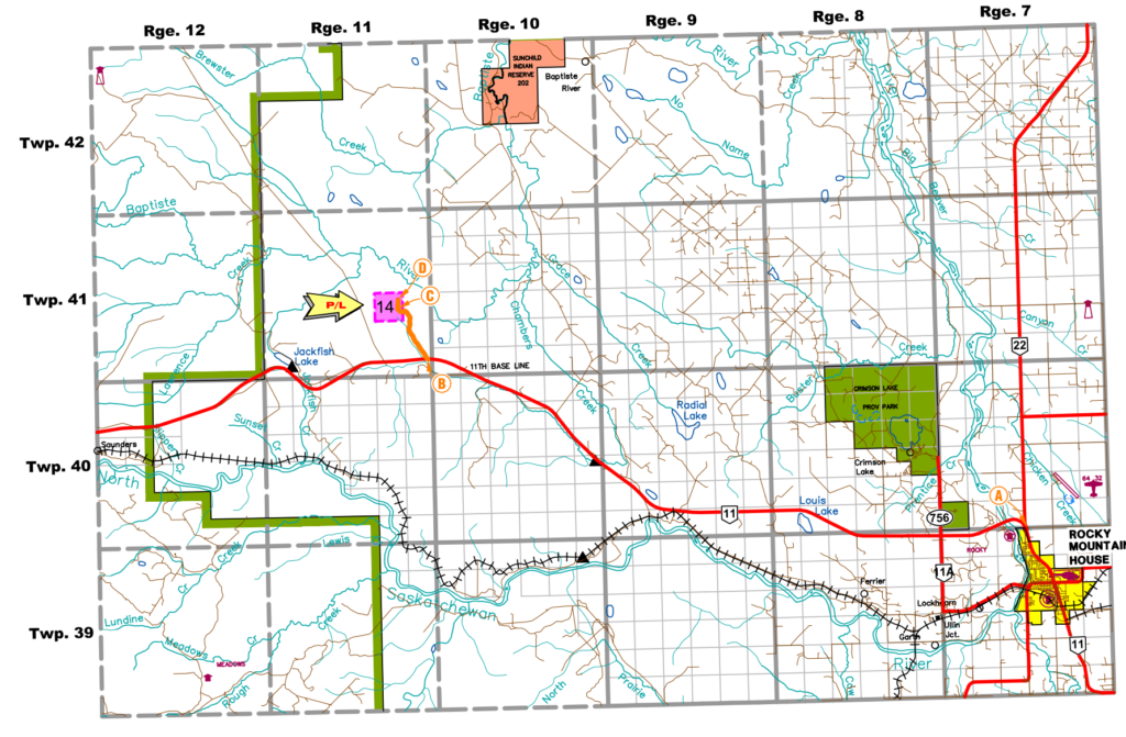 Peyto new 6.7KM pipeline to pipeline near Horburg permit