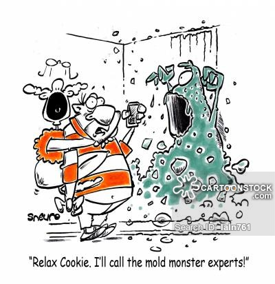 'Relax Cookie. I'll call the mold monster experts!'