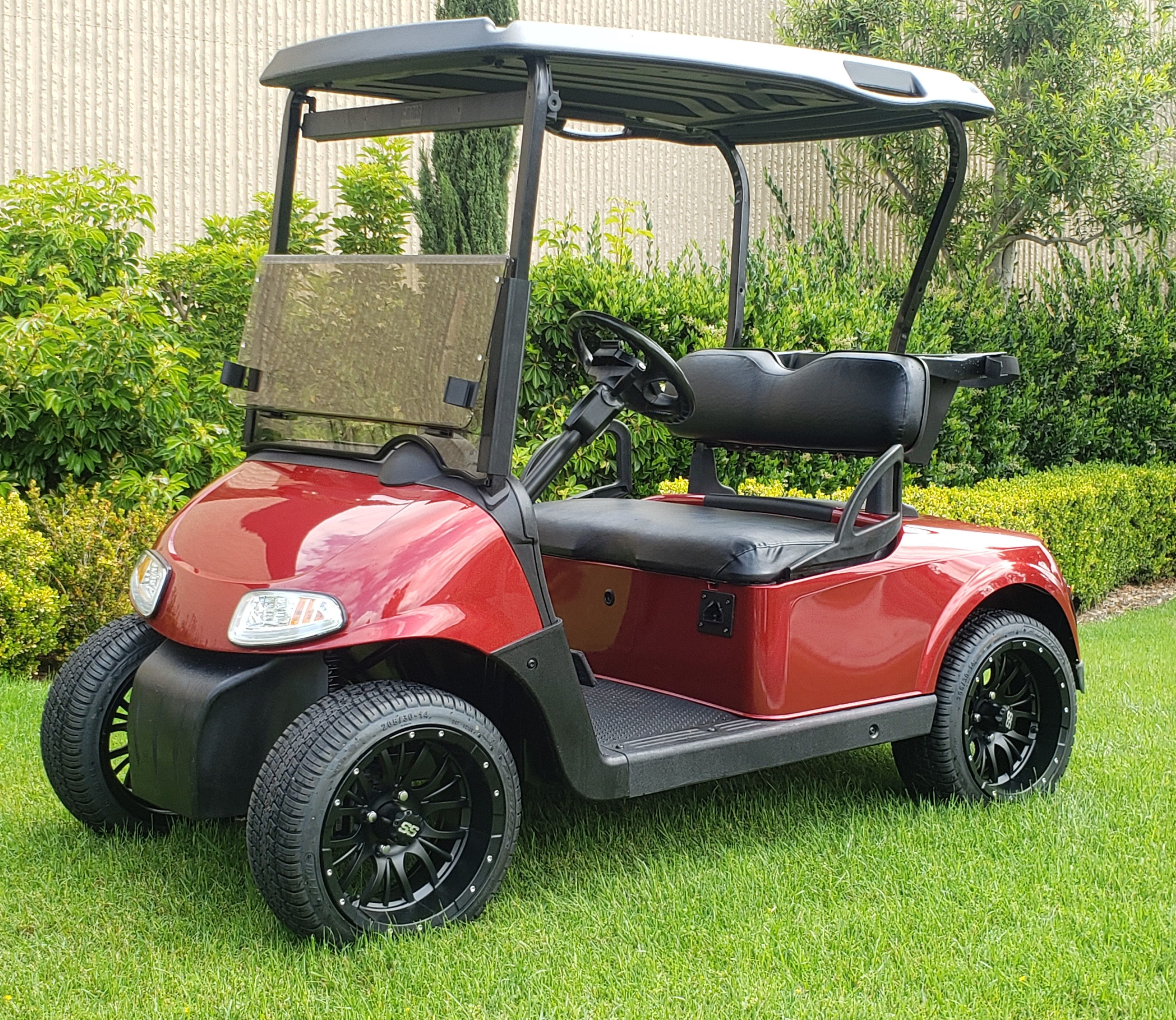 2 Passenger Inferno Red Electric Rxv Golf Cart