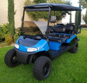 Custom Painted 6 Passenger Ezgo Rxv Limo Golf Cart
