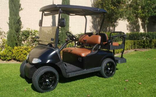 Ezgo Rxv Low Profile 4 Passenger Golf Cart – Matte Black Body