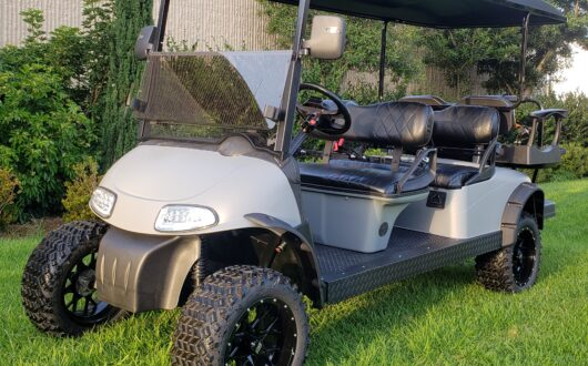 Custom Painted Matte Cement 6 Passenger Ezgo Limo Rxv Golf Cart