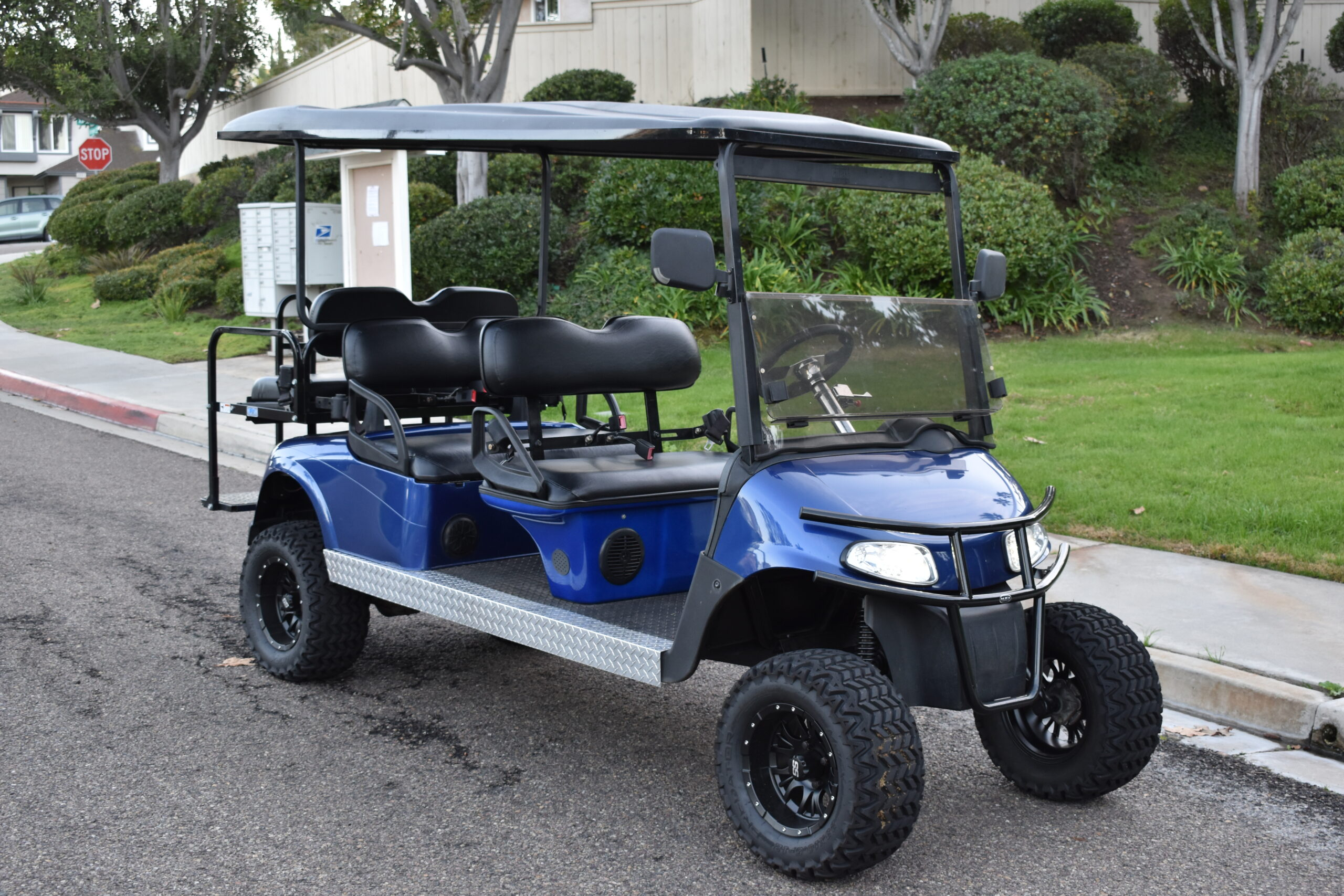Ezgo RXV 6 Passenger Golf Cart- Patriot Blue