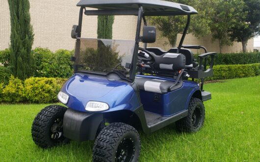Ezgo RXV Lifted 4 Passenger Golf Cart- Patriot Blue