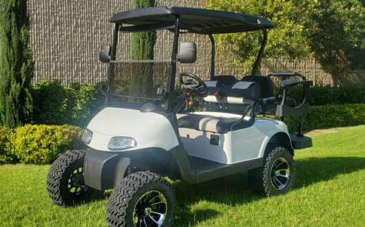 Ezgo RXV Lifted 4 Passenger Golf Cart- Bright white