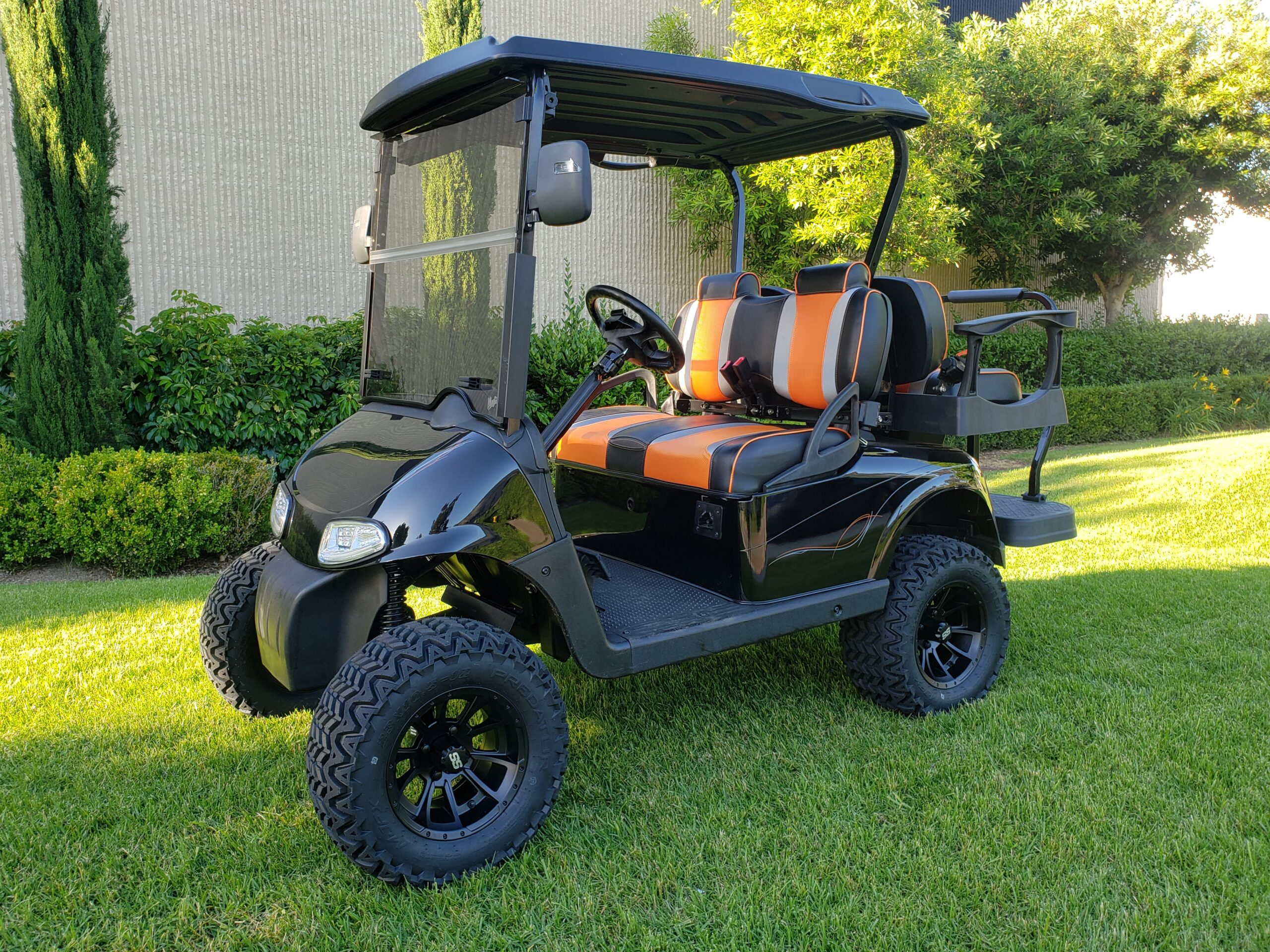 Ezgo RXV Lifted 4 Passenger Golf Cart- Black
