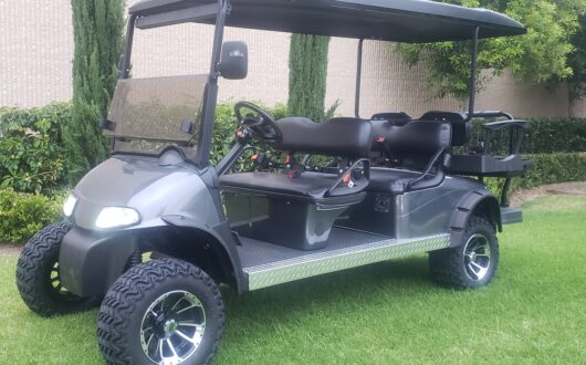 Ezgo RXV 6 Passenger Golf Cart- Charcoal Grey
