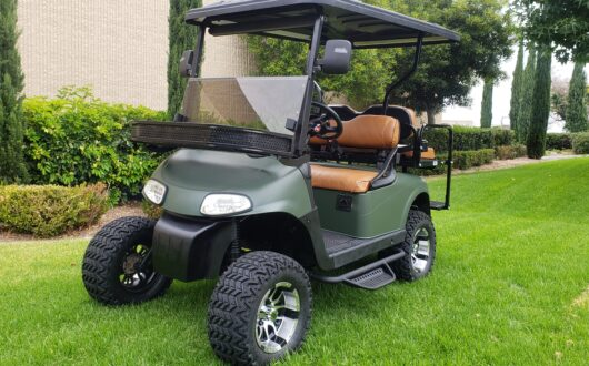 Ezgo Rxv Lifted 4 Passenger Golf Cart- Matte Green