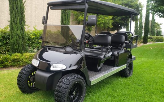 Ezgo Electric Rxv Low Profile 6 Passenger Golf Cart- Charcoal
