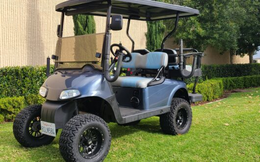 Ezgo Electric Rxv 4 Passenger Golf Cart- Steel Blue
