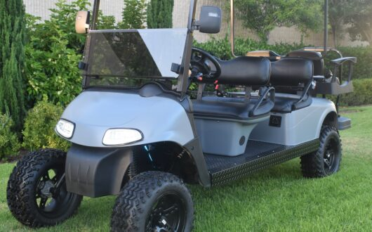 Ezgo Electric Rxv 6 Passenger Golf Cart- Cement